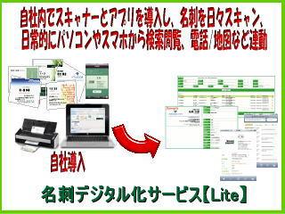 名刺デジタル化サ-ビス【Lite(ライト)】